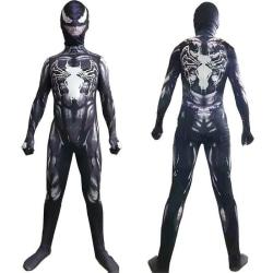 Kinder Jungen Spiderman Cosplay Costume Halloween Party Jumpsuit dark blue 130cm
