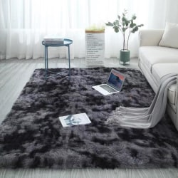 Living Room Rugs Floor Tie-dye Gradient Carpet Home Decoration dark grey 60*160cm
