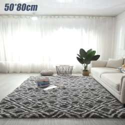 Living Room Tie-dye Rugs Modern Floor Carpets Home Decoration Grey Squares 50*80cm
