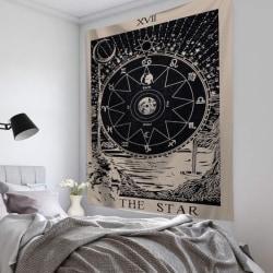 Magical Moon Sun Tarot Tapestry Överkast Rum Väggdekor E 95*73CM