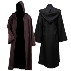 Masquerade Party Stage Halloween Samurai Cloak Cosplay Costumes coffee L