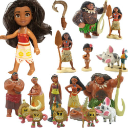Moana Action Figure Maui Pua Heihei Doll Figurine Model Kids Toy