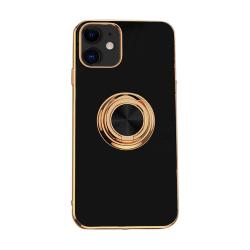 Mobilskal Ringhållare iPhone 11 12 Pro Max XS XR X 8 7 Plus black iphone 12mini