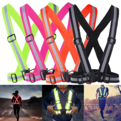 Modern Reflective Vest/Harness With Reflex/ Practical & Durable black 4*1.5cm