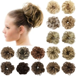 Natural Curly Messy Ring Maker Synthetic Hair Bobble Scrunchie 2-30