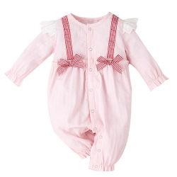 Newborn Girls Romper Long Sleeve Bows Bodysuit Jumpsuit Clothes Pink 9-12 Months