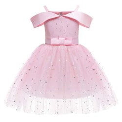 Off-the-shoulder Princess Dress Wedding Puffy Dress Girls pink 110