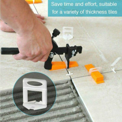 PVC Tile Leveling System Clips Wedges Wall Floor Level Tools 200Pcs