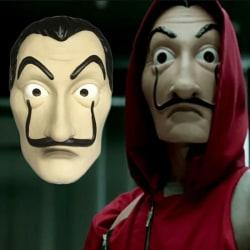 Salvador Dali La Casa De Papel Cosplay Money Heist Mask long mask One Size