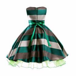 Sequins Princess Dress Girls Color Patchwork green 110 cm