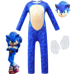 Sonic The Hedgehog Cosplay Kids Mask Gloves Costume Fancy Dress Blue 5-6Years