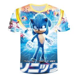 SONIC The Hedgehog Kid Boy 3D Printed T-Shirt Short Sleeve Game Blue 5-6 Years