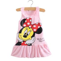 Småbarn Baby flickor ärmlös Minnie Mouse T-shirt klänning Holiday