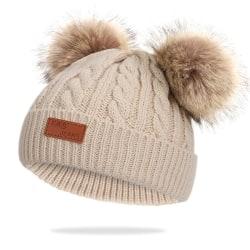 Toddler Girls Boys and Girls Winter Hats Khaki 40-50cm