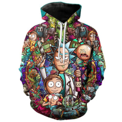 Unisex Rick and Morty 3D Print Christmas Hoodie Sweatshirt Tops L