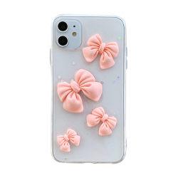 Väska Apple iPhone 12Promax 12Mini 11 8 7 Plus XR XSMax TPU Bow pink iphone XSMax