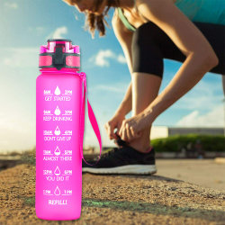 Water Bottles Sport Large Capacity Colorful Drinking Bottles Gym pink-purple