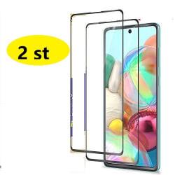 2 st heltäckande skärmskydd för Samsung A71