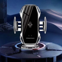 FLOVEME Qi Snabb trådlös mobilladdare med bilmonterad |silver silver