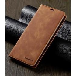hög kvalitetfodral för Samsung S10 plus brun