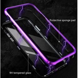 magnetisk glas bakfodral för Samsung S8 plus lila