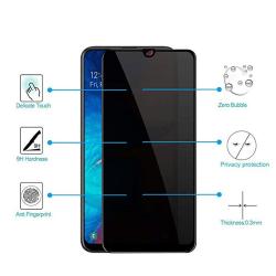 Samsung A70 2-PACK Anti-Spy 2.5D Skärmskydd Ram 9H Svart