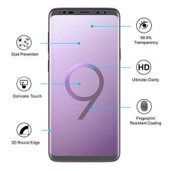 Samsung S9+ 2-PACK Skärmskydd Nano-Soft Screen-Fit HD-Clear Transparent/Genomskinlig