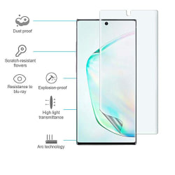 Note 10 3-PACK Skärmskydd Fram- & Baksida 9H Nano-Soft HD-Clear Transparent/Genomskinlig