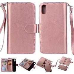 9-Kort Plånboksfodral Sedelfack med Dubbelfunktion - iPhone X/XS Roséguld
