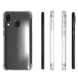 Samsung Galaxy A20E - Skyddande Smart Silikonskal (FLOVEME) Transparent/Genomskinlig