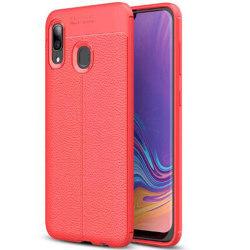 Samsung Galaxy A20E - Effektfullt Silikonskal Röd
