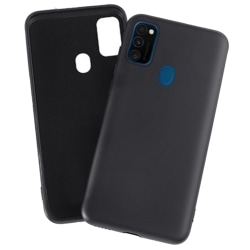 Samsung Galaxy A21S - Stilsäkert Mattbehandlat NKOBEE Skal Svart