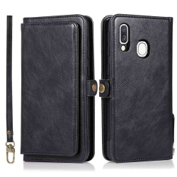 Samsung Galaxy A40 - Robust Plånboksfodral Dubbelfunktion Svart