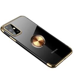 Samsung Galaxy A41 - Praktiskt Skyddande Skal med Ringhållare Svart