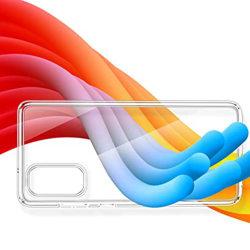 Samsung Galaxy A41 - Genomtänkt Stöttåligt Floveme Skal Transparent/Genomskinlig