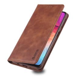 Plånboksfodral - Samsung Galaxy A50 Mörkbrun