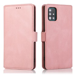 Samsung Galaxy A71 - Elegant Plånboksfodral Roséguld