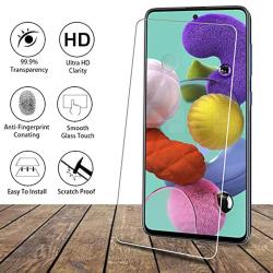 Samsung Galaxy A71 Skärmskydd Standard 9H 0,3mm HD-Clear Transparent/Genomskinlig