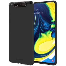 Stilrent Mattbehandlat Skal - Samsung Galaxy A80 Svart