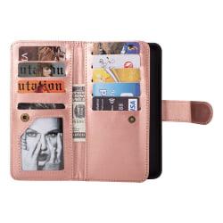Elegant Fodral med plånbok för Samsung Galaxy S9 Roséguld