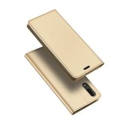 Fodral med Kortfack (SKIN Pro SERIES) till Huawei P20 Guld