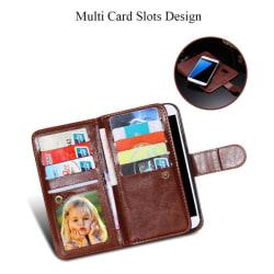 Elegant 9 KORTS Plånboksfodral  för Samsung S7 EGDE - FLOVEME Brun