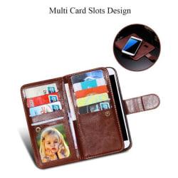 Galaxy S7 Exklusivt 9 Korts Plånboksfodral samt Sedelfack Svart