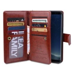 Plånboksfodral med 9 kortfack från ROYBEN Samsung Galaxy S8+ Brun