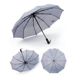 Genomtänkt Kraftfullt Paraply Svart