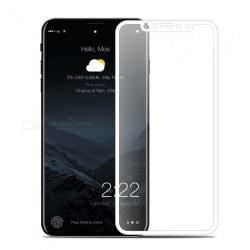 HeliGuards Skärmskydd för iPhone X (Skärmskydd Full-cover) Vit