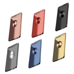 Huawei Honor 9 - Praktiskt Skyddsskal med Ringhållare Blå