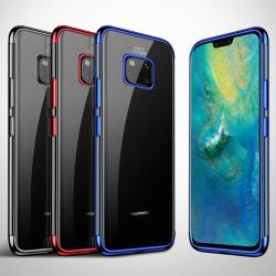Effektfullt Skal av mjuk Silikon till Huawei Mate 20 Pro Blå