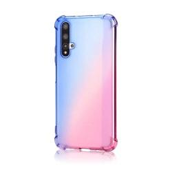 Huawei Nova 5T - Stöttåligt Silikonskal Rosa/Lila