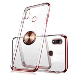 Huawei P Smart Z - Elegant Skal med Ringhållare Röd